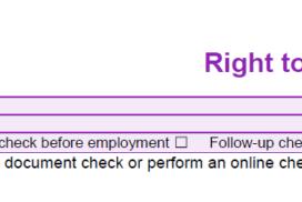 Right to Work Checklist